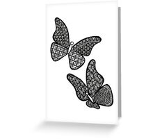 Christine's Doodled Butterflies Greeting Card