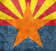 State flag of Arizona, with vintage retro style treatment Sticker