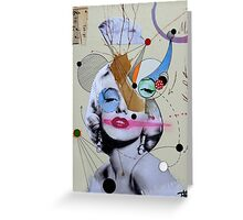 marilyn for the abstract thinker Greeting Card