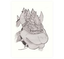 The Tears Of Bowser (Charcoal) Art Print