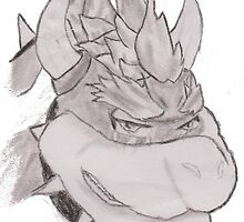 The Tears Of Bowser (Charcoal) by Josh Murphy