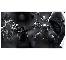 Videogame Heroes Dark Poster Poster