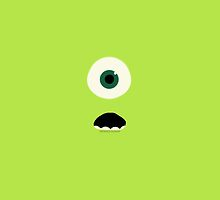 Mike Wazowski Minimalist Art  by Meowycows