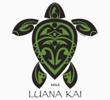 Black & Green Tribal Turtle Tattoo / Luana Kai Kids Clothes