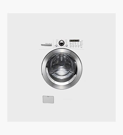House Trained Husband Groom Washing Machine Photographic Print