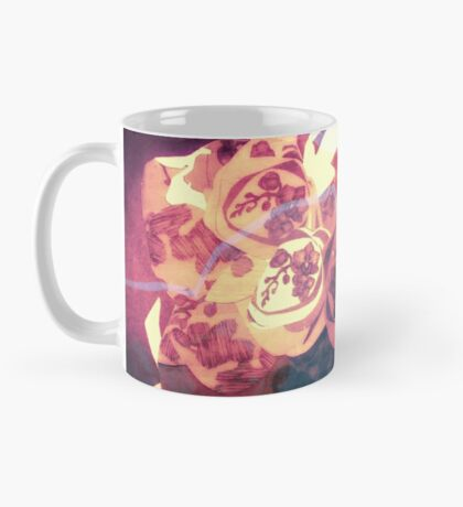 Orchid Explosion - Floral Geometry Study  Mug
