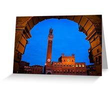 Palazzo Pubblico - Siena, Italy Greeting Card