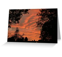 Golden Sky Greeting Card