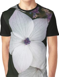 Purple and Blue Hydrangea  Graphic T-Shirt