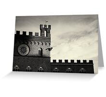 Last Rays - Siena, Italy Greeting Card