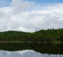 Calm Lake, Turbulent Sky Sticker