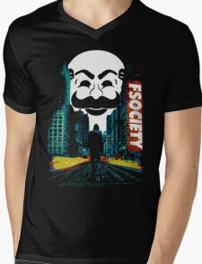 fsociety Mens V-Neck T-Shirt