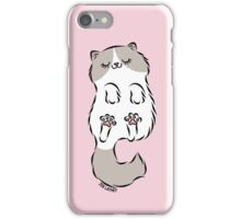 Fluffy Cat Sleeping iPhone Case/Skin