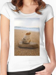 abstract stones Women's Fitted Scoop T-Shirt