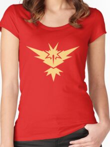 FunnyBONE Zapdos Women's Fitted Scoop T-Shirt