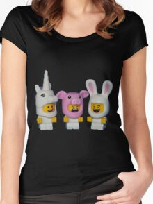 Adorable Baby Animals Women's Fitted Scoop T-Shirt
