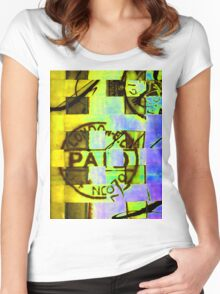 Abstract Print Women's Fitted Scoop T-Shirt