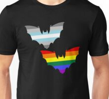 Gay Demiboy Pride Bats Unisex T-Shirt
