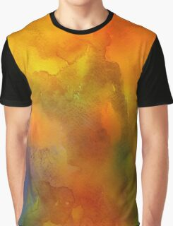 Orange Watercolor Graphic T-Shirt