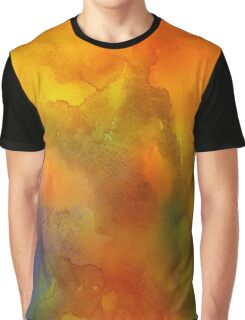 Orange Watercolor Graphic T-Shirt