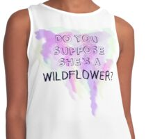 Do You Suppose She's a Wildflower? Contrast Tank