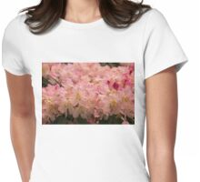 Pastel Coral Azaleas, Refreshed by the Rains Womens Fitted T-Shirt