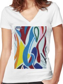 Shades of enlightenment 2 Women's Fitted V-Neck T-Shirt