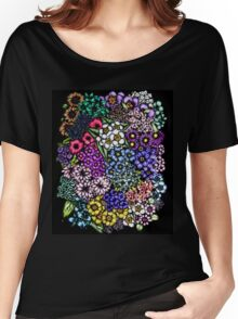 Midnight Blossoms Women's Relaxed Fit T-Shirt