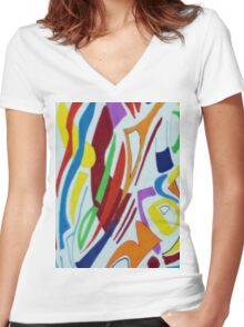 Shades of enlightenment 3 Women's Fitted V-Neck T-Shirt