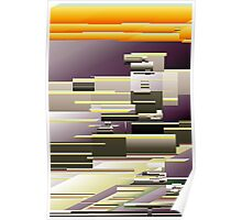 Abstract Yellow Purp Poster