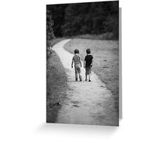 Two Little Boys Greeting Card