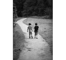 Two Little Boys Photographic Print