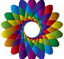 Rainbow Geometric Circle Light Version by amstar