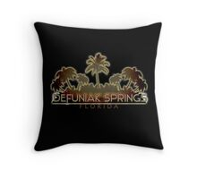Defuniak Springs Florida palm tree words Throw Pillow