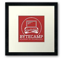 Bytecamp White Framed Print
