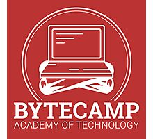Bytecamp White Photographic Print