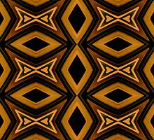 Tribal Diamonds Pattern Brown Colors Abstract Design by DFLCreative