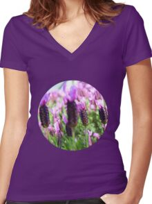 Purple Haze Women's Fitted V-Neck T-Shirt