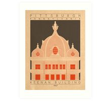 Keenan Building - 1907 (Orange) Art Print