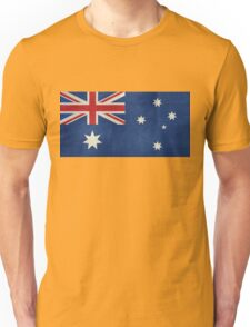 The National flag of Australia, retro textured version (authentic scale 1:2) Unisex T-Shirt