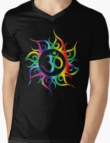 Multi Coloured OM Illustration Mens V-Neck T-Shirt
