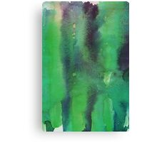 Green Watercolor Canvas Print