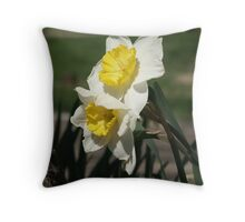Daffodil Spring Throw Pillow