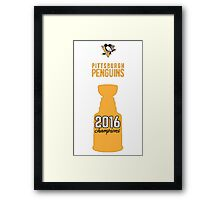 Pittsburgh Penguins 2016 Stanley Cup Champions Framed Print