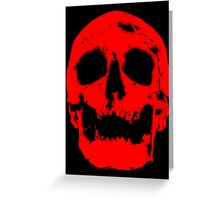 Red Skull (2) Greeting Card