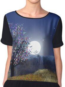 Cherry Tree Moon Chiffon Top