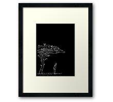 Obsession (white) Framed Print