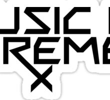 Music is my Remedy (RX) Sticker