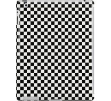 Lace Cap White and Black Classic Checkerboard Repeating Pattern iPad Case/Skin