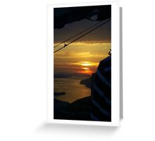 Sunset From The Cable Car.............Dubrovnik Greeting Card